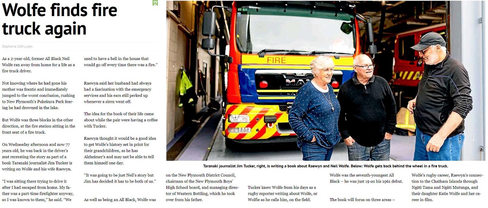 Wolfie fire engine